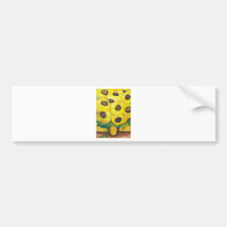 Abstract Sunflowers in the vase Bumper Sticker