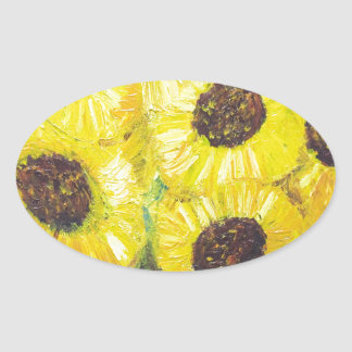 Abstract Sunflowers in the vase Stickers