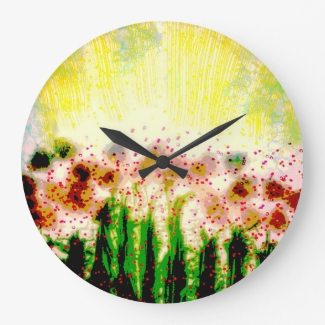 Abstract Sunny Garden Landscape Art