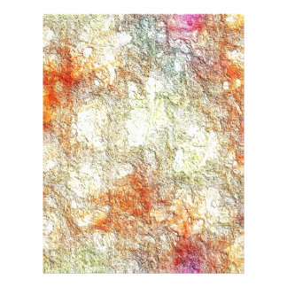 Abstract Sunny Warm Colors Letterhead Stationery