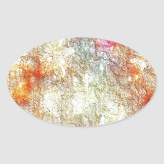 Abstract Sunny Warm Colors Oval Sticker