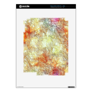 Abstract Sunny Warm Colors Skin For iPad 2