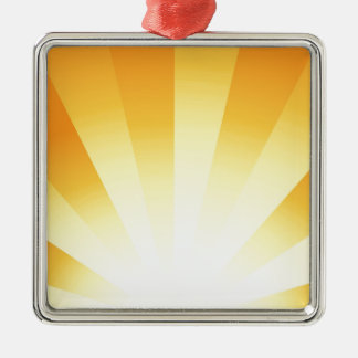 Abstract Sunrise Metal Ornament