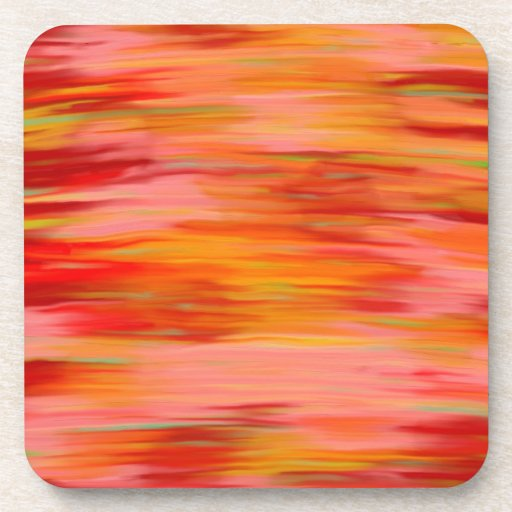 Abstract Sunset Beverage Coaster