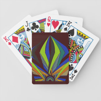 Abstract Sunset Bicycle Playing Cards