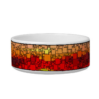 Abstract Sunset Bowl