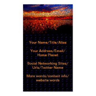 Abstract Sunset Business Card