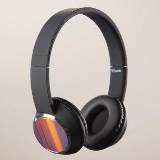 Abstract Sunset Headphones