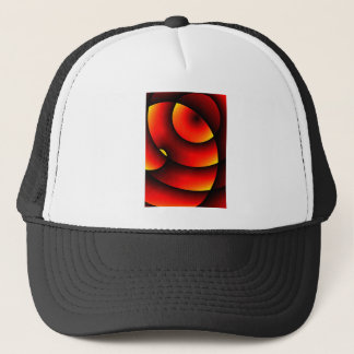 Abstract Sunset In Orange Swirls Trucker Hat