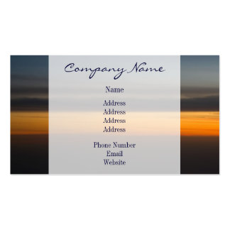 Abstract Sunset in the Sky Double-Sided Standard Business Cards (Pack Of 100)