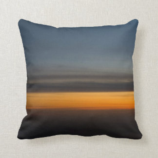 Abstract Sunset in the Sky Throw Pillow