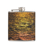 Abstract Sunset on Water Flask