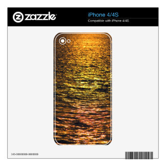 Abstract Sunset on Water iPhone 4S Decals