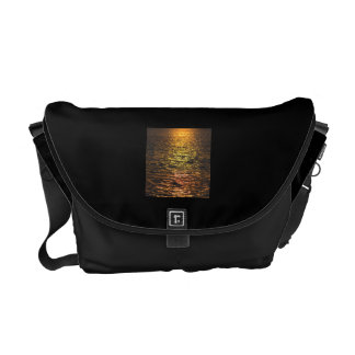 Abstract Sunset on Water Messenger Bag