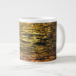 Abstract Sunset on Water 20 Oz Large Ceramic Coffee Mug