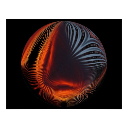 Abstract Sunset Sphere ~ print