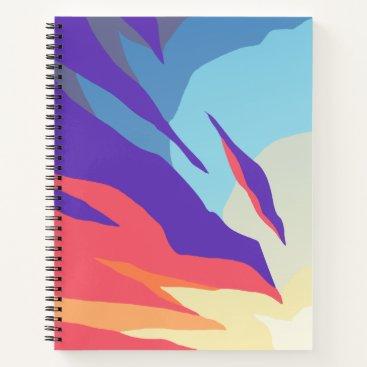 Beach Themed Abstract Sunset Spiral Notebook
