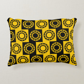 Abstract Sunshine Accent Pillow