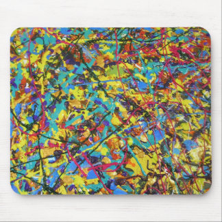 abstract - SUNSHINE LOLIPOPS AND RAINBOWS2IMK Mouse Mats