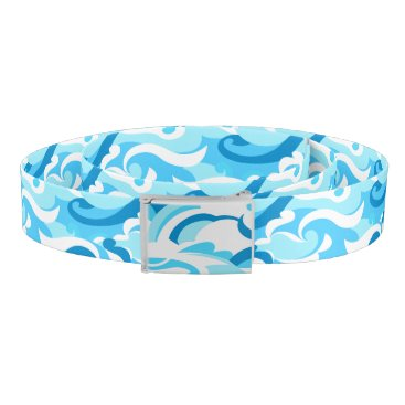 Beach Themed Abstract surf waves belt
