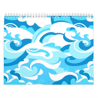 Abstract surf waves calendar