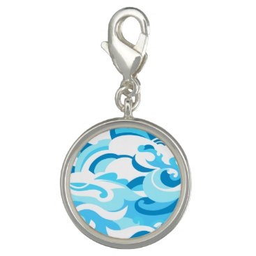 Beach Themed Abstract surf waves charms