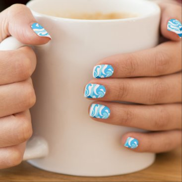 Beach Themed Abstract surf waves minx nail wraps