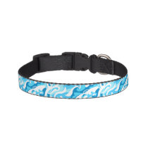 Abstract surf waves pet collar