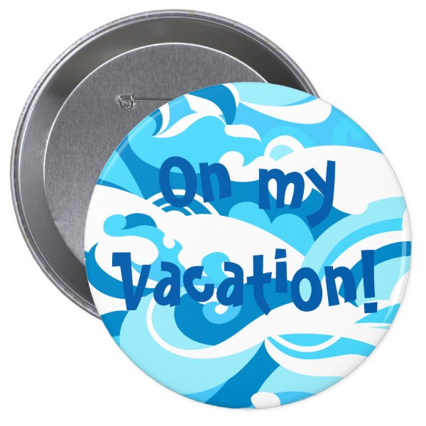 Abstract surf waves pinback button