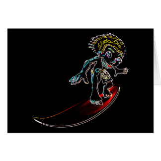 Abstract Surfer Card