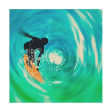 all_summer_products Abstract Surfer Silhouette Wood Wall Art