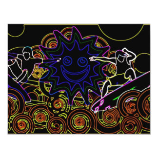 Abstract Surfers Card