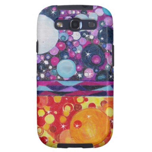 Abstract Surreal Circles Bubbles Orbs Samsung Galaxy S3 Cover