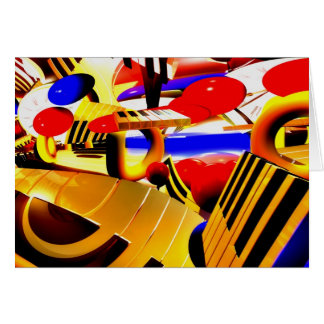 Abstract Surrealism Greeting Card