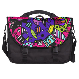 Abstract Swagger Doodle in PINK Commuter Bags