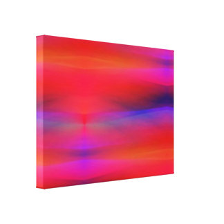 Abstract Swaths of Colors Mostly Red Stretched Canvas Prints