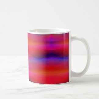 Abstract Swaths of Colors Mostly Red Coffee Mug