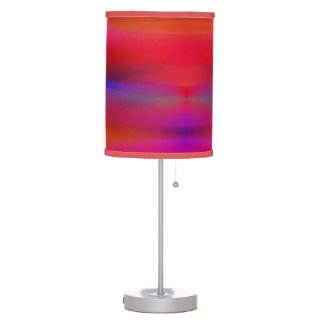 Abstract Swaths of Colors Mostly Red Table Lamp