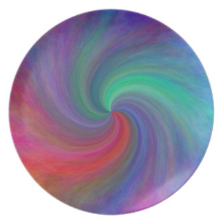 Abstract swirl #12, gifts party plate