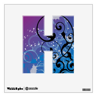 Abstract Swirl Alphabet Wall Decal