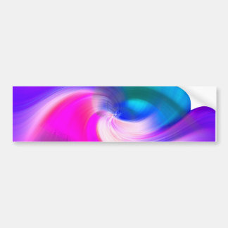 ABSTRACT SWIRL, BRILLIANT BRUSHSTROKES BUMPER STICKER