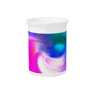 ABSTRACT SWIRL, BRILLIANT BRUSHSTROKES DRINK PITCHER