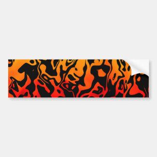 Abstract Swirl Car Bumper Sticker