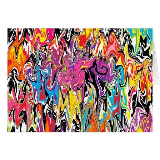 Abstract Swirl Card