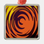 Abstract Swirl Christmas Ornaments