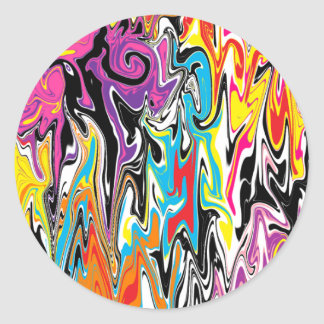 Abstract Swirl Classic Round Sticker