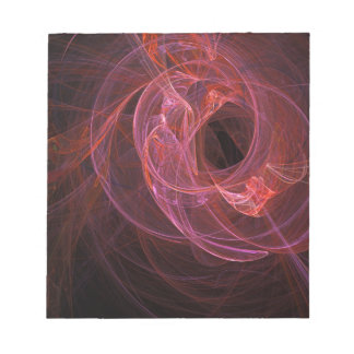 Abstract swirl design notepad