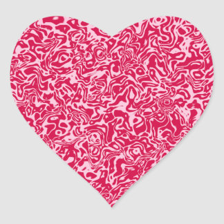 Abstract Swirl Heart Sticker