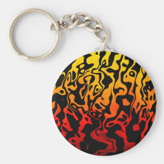 Abstract Swirl Basic Round Button Keychain