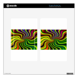 abstract swirl kindle fire decal